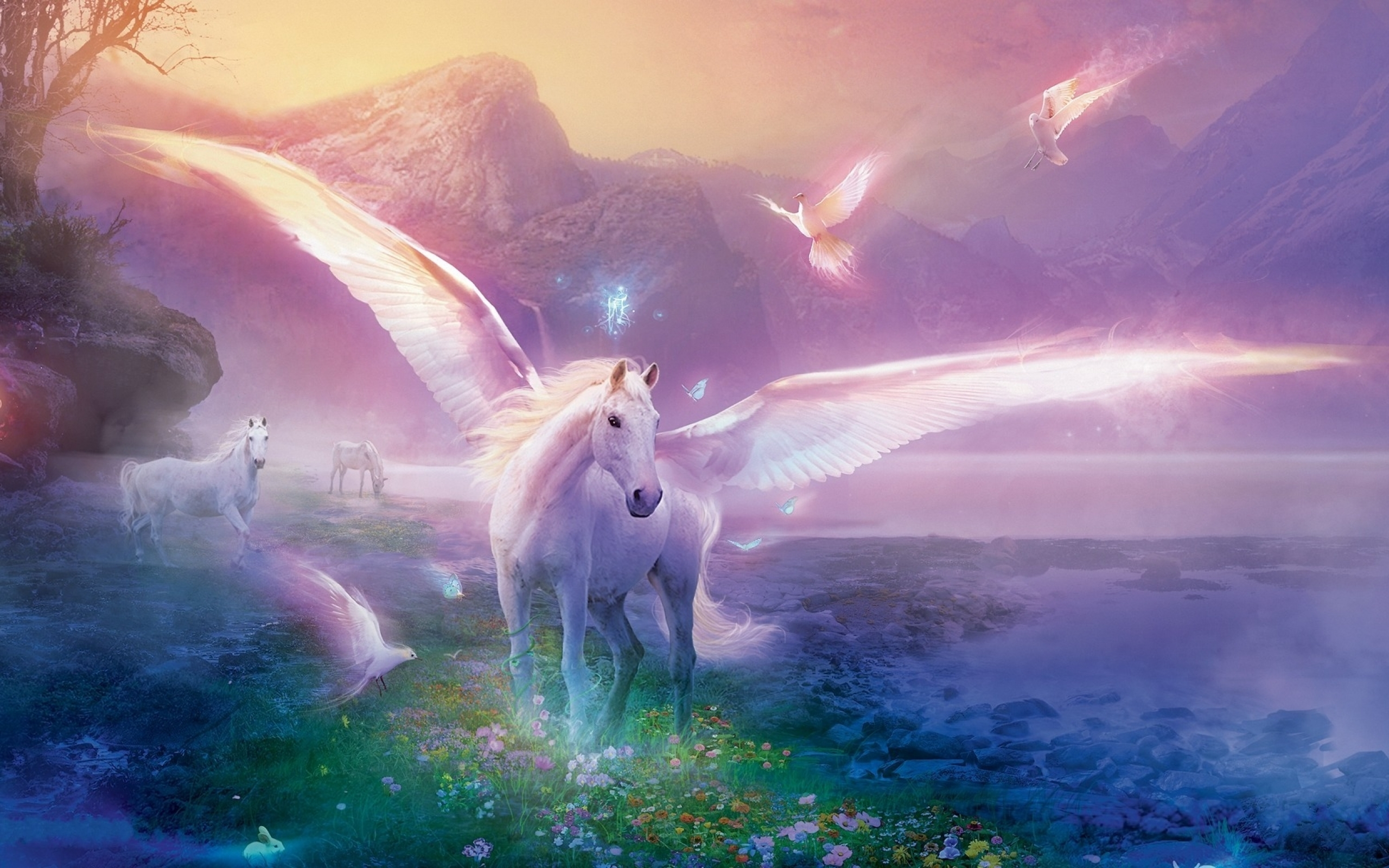 Unicorn background 7