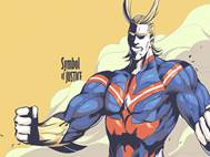 Boku no Hero All Might background 5