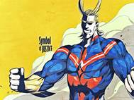 Boku no Hero All Might background 7