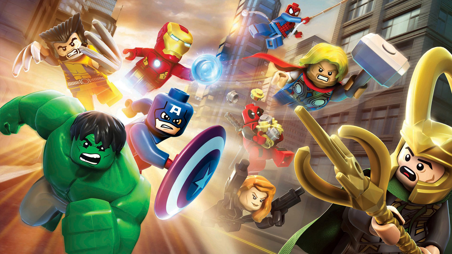 lego marvel super heroes wallpaper 8