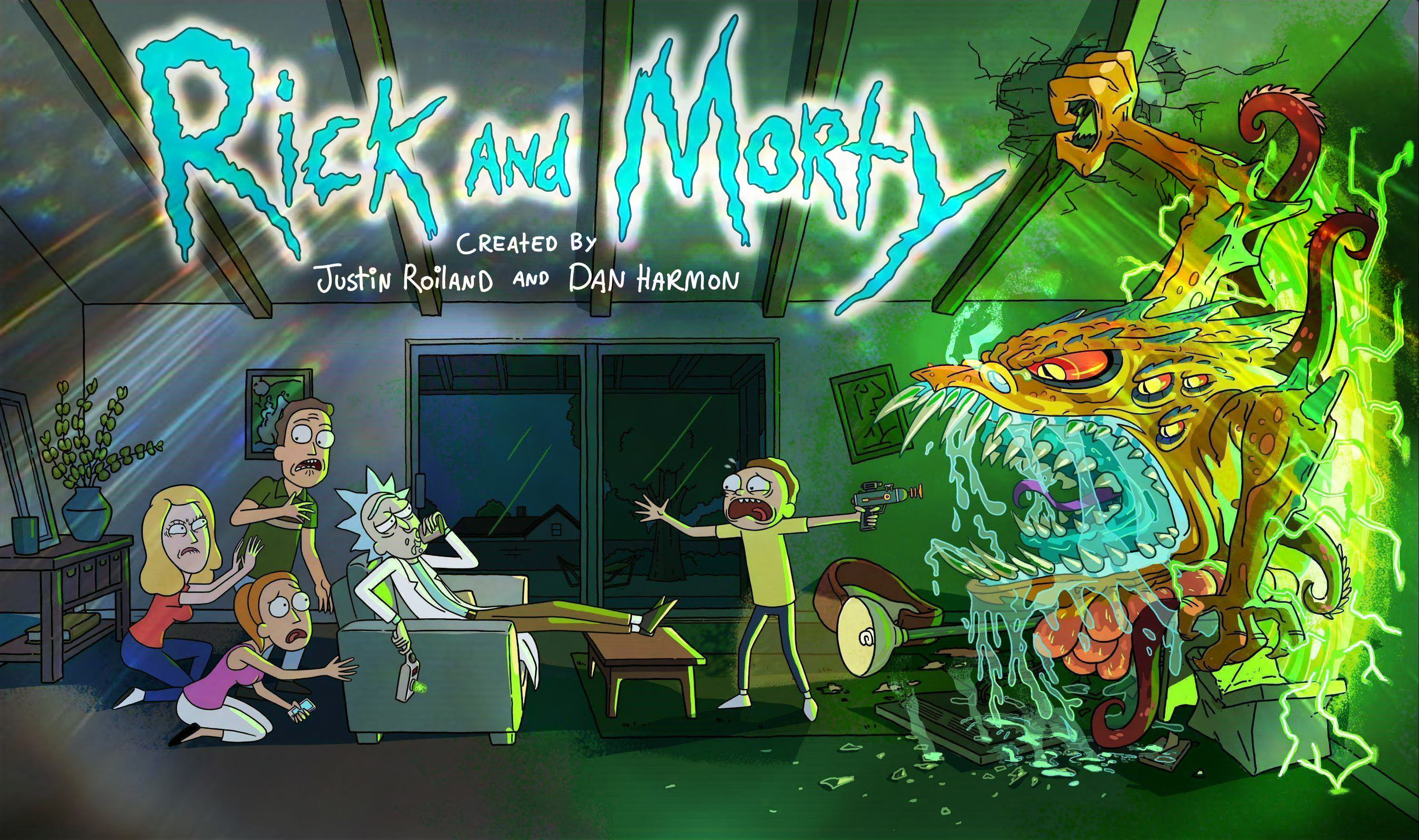 Rick and Morty background 44
