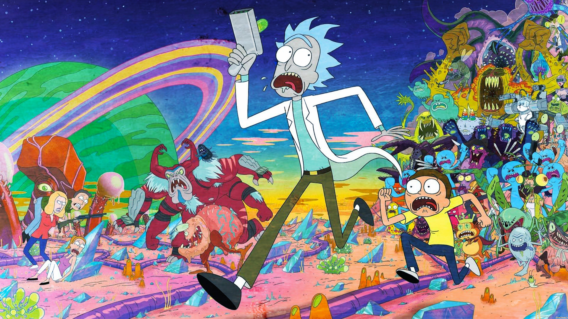 Rick and Morty background 45